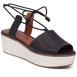 Lucky platform flatform ankle tie sandal Jaxson